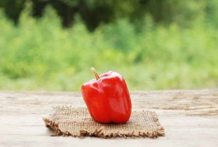 red pepper on white.