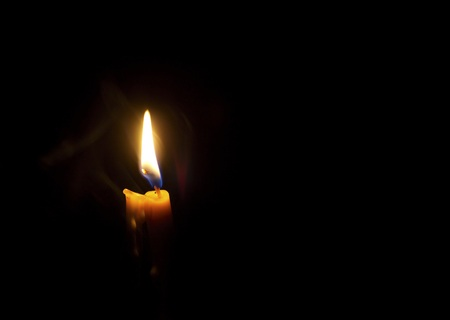 luz de velas: Luz de una vela.