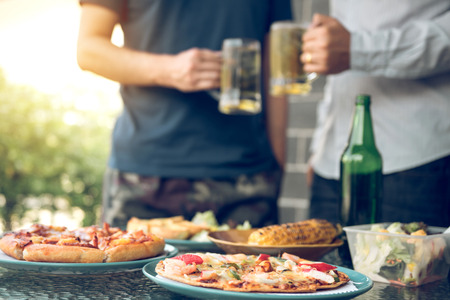 Food to eat with beer in celebration with friends. Banco de Imagens - 124606942