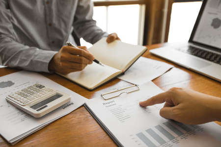 Colleagues are stress talking about the finance results report and compared with the financial information on the paperwork with analysis about planning in the future.