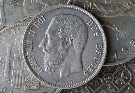 napoleon: The Argentine coin of Napoleon Stock Photo