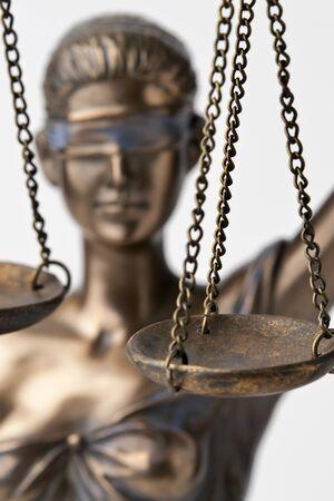 Bronze Themis statue - symbol of Justice