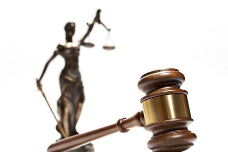 Bronze Themis statue - symbol of Justice Stockfoto