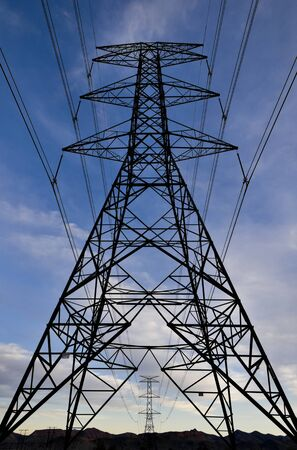 Power Pylons and Electricity transmission wires