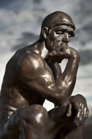 Rodin's The Thinker - Replica Bronze Statue