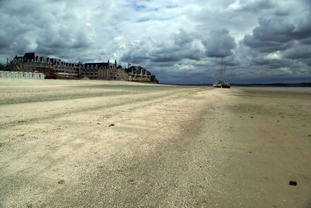 argent: Empty beach in France
