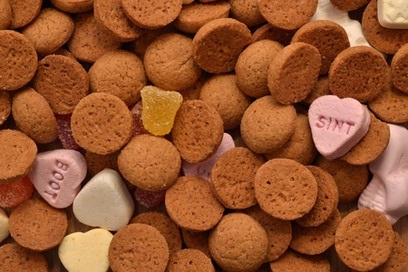 ginger nuts: typical dutch ginger nuts candy also know as pepernoten or kruidnoten