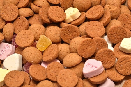 pepernoten: typical dutch ginger nuts candy also know as pepernoten or kruidnoten