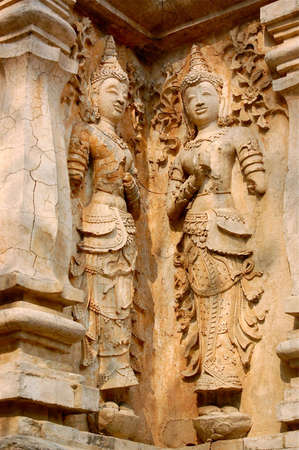 500 yrs stuccoes were captured from Wat Ched Yot at Chiang Mai,Thailand.