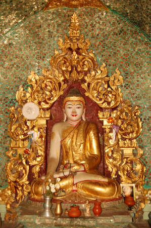 This Buddha image was captured from a temple in Yangon, Myanmar.