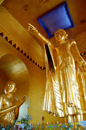 anon: MANDALAY, MYANMAR- DEC 29: The pointing buddha monument is on the top of Mandalay hill building. Buddha came here and predict that buddhist will grow here, Dec 29 2009 in Mandalay.