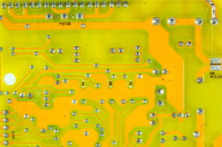 Printed Circuit Board Assembly of a fan Stock Photo