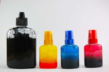 The Ink in the bottle for Inkjet printer