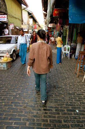 YANGON, Myanmar- Dec 2007: Scott market in downtown of Yangon, Myanmar, Dec 2007. Editorial