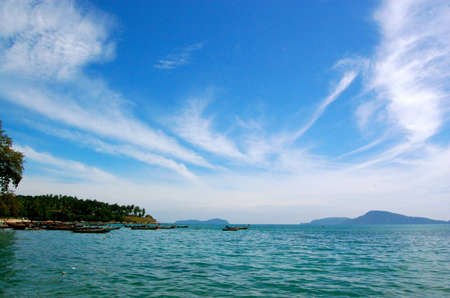 Andaman sea with cloudy blue sky