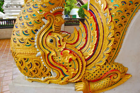 The stucco in buddhist temple in Thailand