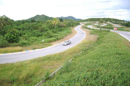 KAENG KRACHAN, THAILAND-OCT 2012  The Kaeng Krachan racing track on the hill of mid-south of Thailand, Oct 12 Editorial