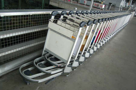 The push cart in Airport
