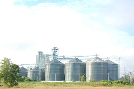 The silo in factory of Animal food production
