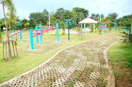 The jogging way in exercise park