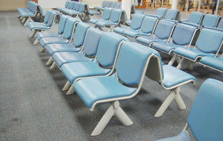 Blue soft seat in airport