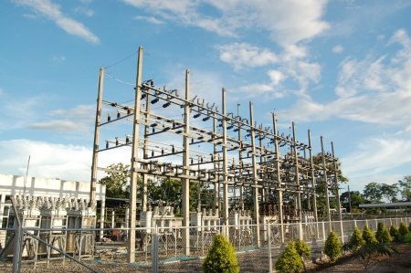 High voltage electric station  Stock Photo - 17238297