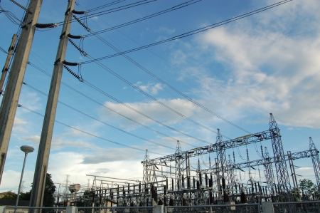 High voltage electric station  Stock Photo - 17238278