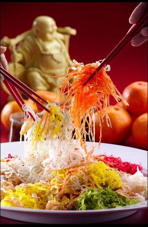 chinese new year salad Stock Photo - 6356573