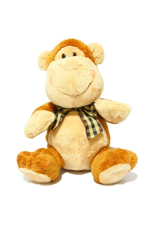 stuffed animals: Monkey Toy Isolated on White