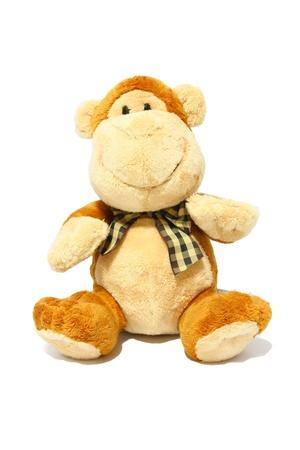 plush toy: Monkey Toy Isolated on White