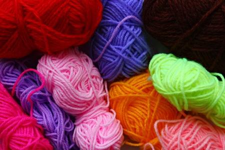 Colorful Knitting Yarns Stock Photo - 12069927