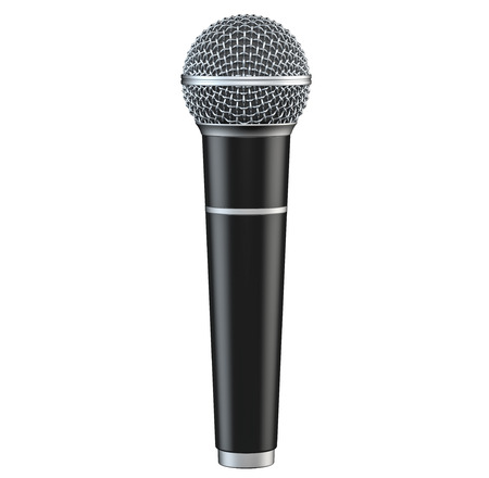 perform: Microphone isolated on white background 3D