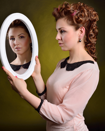 mirror: Girl with mirror