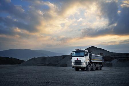 loader: loading car loader Stock Photo