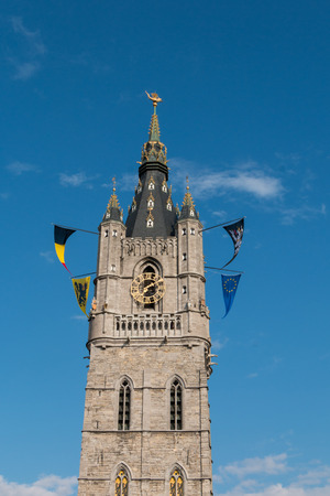 flanders: Tower of the Belfry of Ghent in Flanders, Belgium