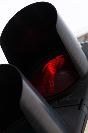 rote ampel: Rotes Licht am Fu�g�nger�bergang Lichter, closeup