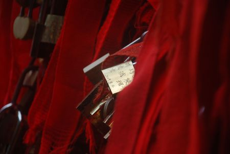 concentric: Closeup of concentric lock Editorial