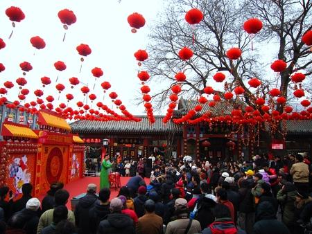 bejing: Performance in Bejing Changdian temple fair Editorial