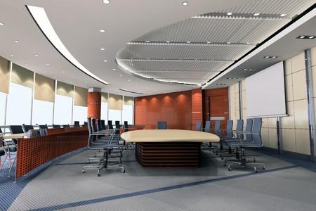 l'image g�n�r�e par ordinateur en 3D de la salle de conf�rence moderne Banque d'images