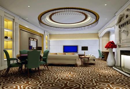 거실의 현대적인 디자인 인테리어입니다. 3D 렌더링