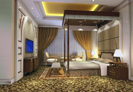 modern design interior of bedroom. 3D render Stock Photo - 4087244