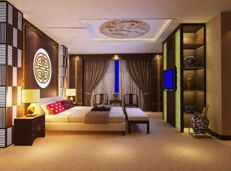 modern design interior of bedroom. 3D render Stock Photo - 4137718