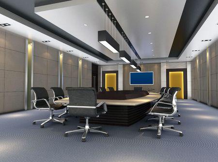 컴퓨터 생성 된 3d 이미지의 현대 회의 홀 스톡 콘텐츠
