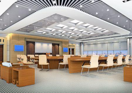 g�n�r�s par ordinateur une image 3D de la salle de conf�rence moderne