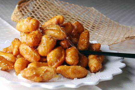 chinese yam: china delicious food--candied chinese yam