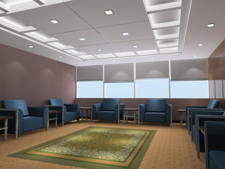 a reception room.3d render Stock Photo - 5063270