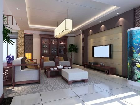 modern design interior of living-room. 3D render Stock Photo - 5063274