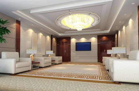3d reception room rendering Stock Photo - 6710708