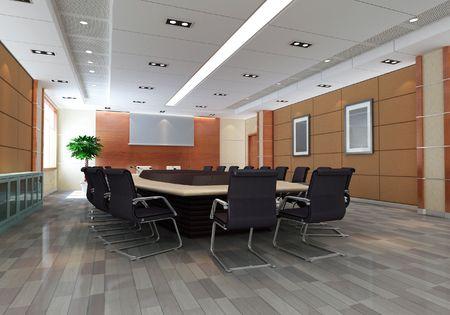 l'image g?r?par ordinateur en 3D de la salle de conf?nce moderne