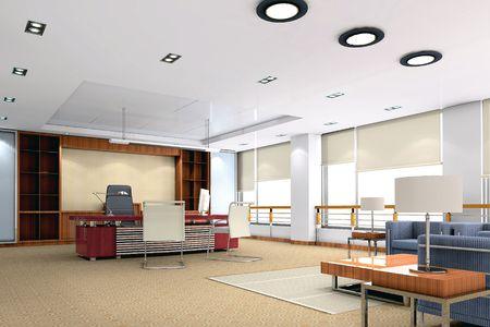 salle de bureau moderne 3D Banque d'images